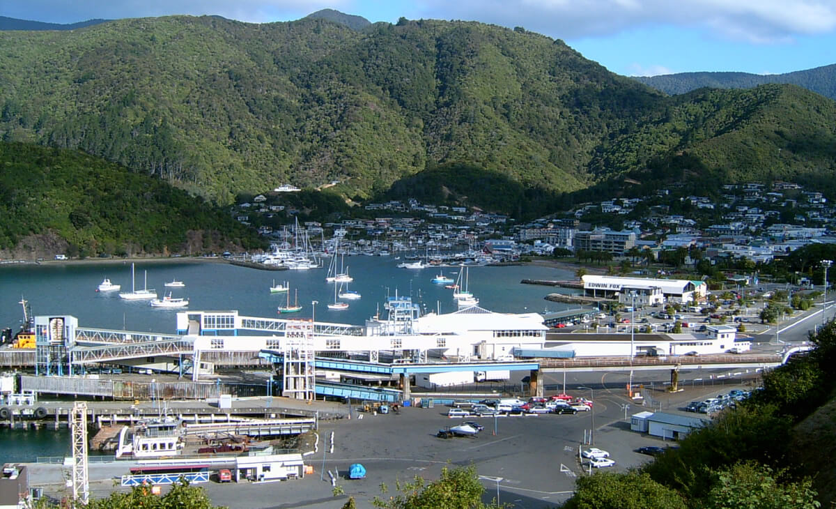 Picton New Zealand Aerial View Shared By Piwaka Lodge And Backpackers Accommodation
