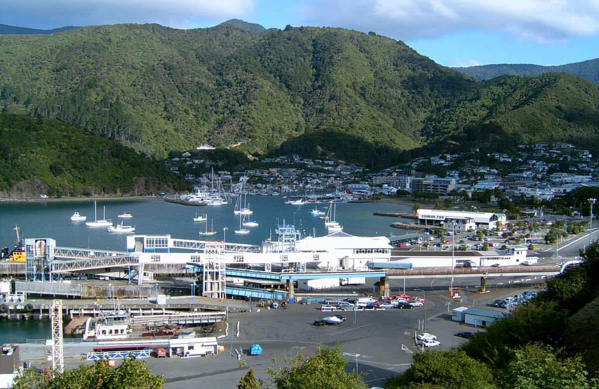 Picton New Zealand Aerial View Shared By Piwaka Lodge And Backpackers